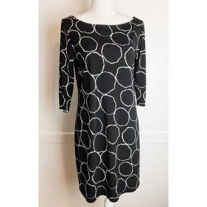 Leota • NWT Bubbly Black and White Shift Dress